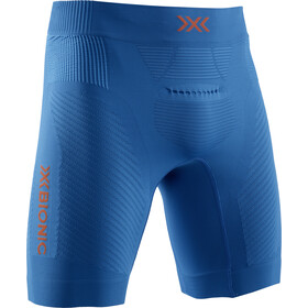 X-Bionic Invent 4.0 Run Speed Pantaloncini Uomo, teal blue/kurkuma orange